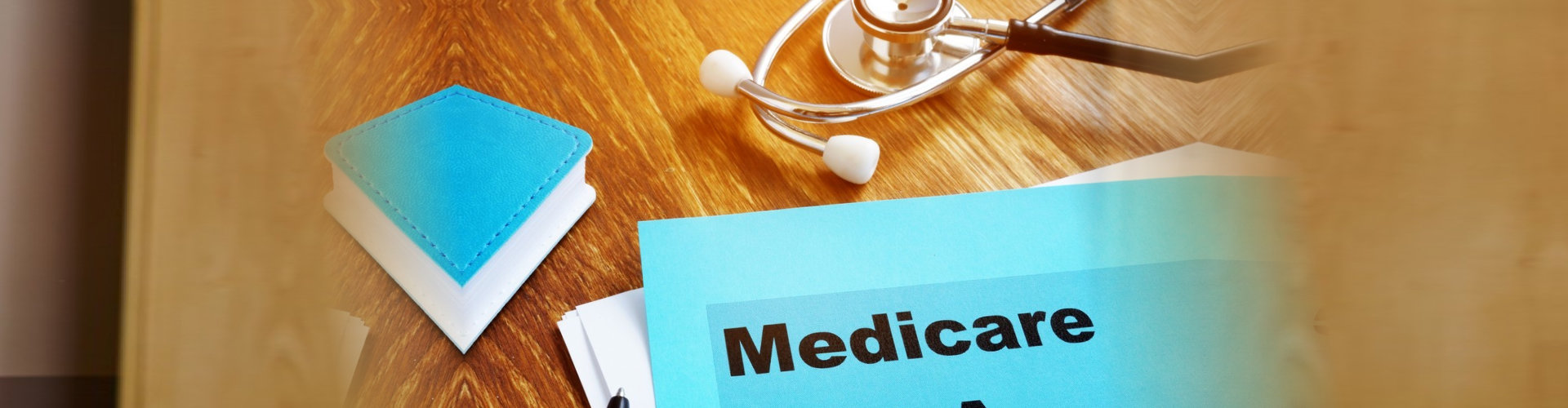 medicare text and with stethoscope